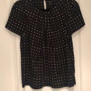 Ann Taylor Top with Polka Dots